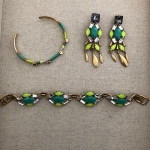Stella & Dot bracelet and earring set